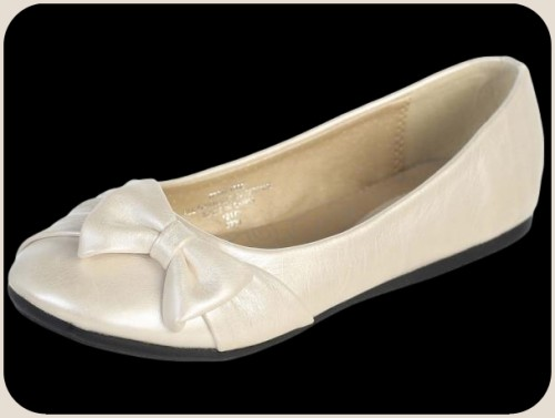 ivory flat dress shoes w bow infant toddler youth
