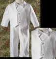 4pc Vest & Pants Baptism Outfit Suit w/ Crosses Infant & Toddler Boys *
