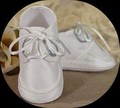 100% Silk Off White Lace Up Oxford Shoes for Infant Boys