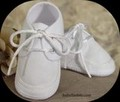 White Poly/Cotton Gabardine Oxford Bootie Shoes Infant Boys *