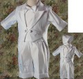 5pc Tuxedo Baptism Shorts Outfit Vest w/ Tail Infant & Toddler Boys *