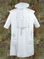 White Satin Baby Boys Bishop Christening Robe Gown w. Shawl & Cap