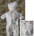 5pc Vest & Shorts Baptism Outfit w/ Cross Detailed Lapel Infant & Toddler Boys