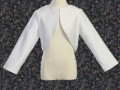 White Satin Girls Bolero Jacket w. Long Sleeves