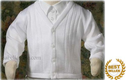 5d8bf3a2b Buy Yarn Online and Find Crochet and Knitting Supplies and Patterns. White  Baby Boy Sweater 57