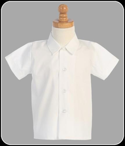 White short sleeve wrinkle resistant dress shirt baby for Short sleeve white dress shirt