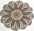 New Handmade Crocheted Brown Fall Autumn Thanksgiving Wheat Motif Cotton Doily 22 Inches