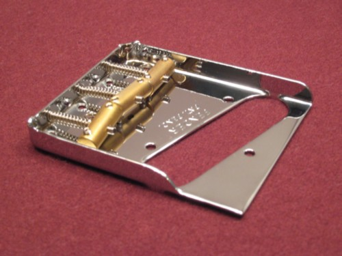Fender Telecaster Notched Bridge - with Custom Compensated Saddles