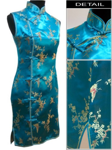 Oriental Chinese Costume Cheongsam Dress Plus Size QS92