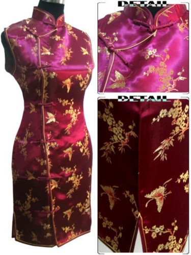Oriental Chinese Costume Cheongsam Dress Plus Size QS94