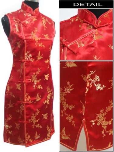 Oriental Chinese Costume Cheongsam Dress Plus Size QS95