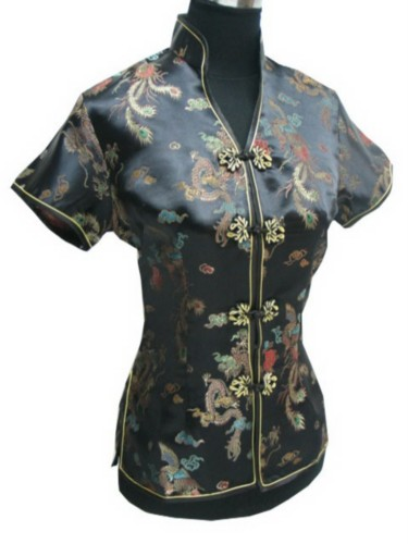 Oriental Chinese Mandarin Evening Shirt Blouse Top BS05