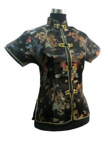 Oriental Chinese Mandarin Evening Shirt Blouse Top BS01