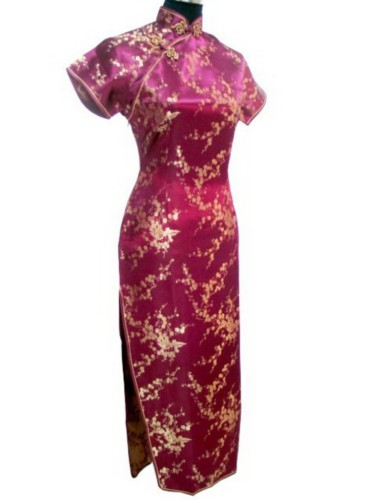 Oriental Chinese Cheongsam Qipao Long Dress Plus Size QL22
