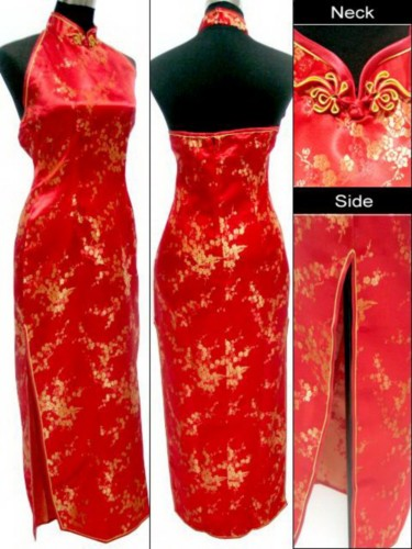 Chinese Cheongsam Qipao Evening Gown Long Dress QL56