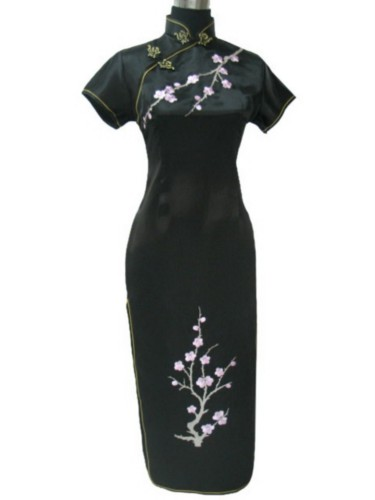 Chinese Embroidered Evening Gown Prom Long Dress QL08