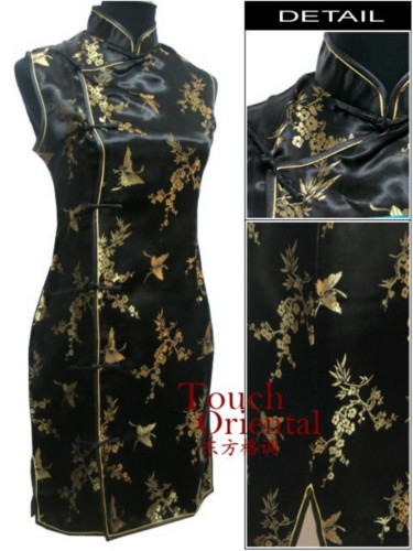 Oriental Chinese Costume Cheongsam Dress Plus Size QS91