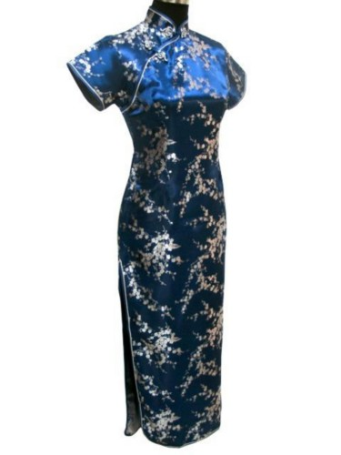 Oriental Chinese Cheongsam Qipao Long Dress Plus Size QL18