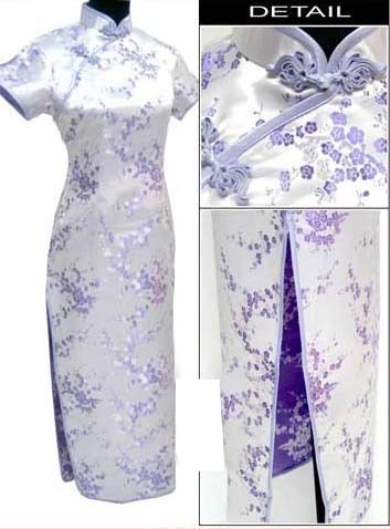 Oriental Chinese Cheongsam Qipao Long Dress Plus Size QL24