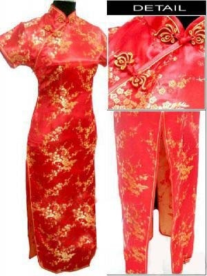 Oriental Chinese Cheongsam Qipao Long Dress Plus Size QL23