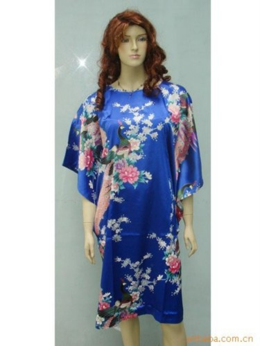 Silk Sleepwear Pyjama Night Dress Oriental Kaftan SW18