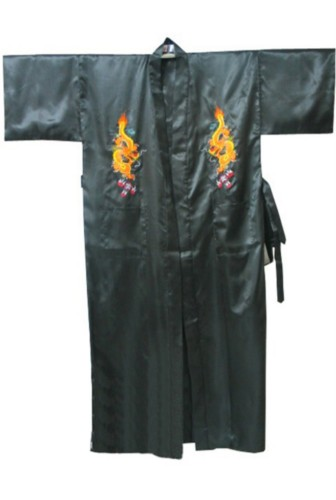 Silk Japanese Chinese Kimono Dressing Gown Bath Robe RU31