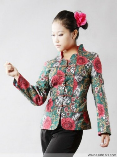 Oriental Chinese Floral Evening Party Jacket Blouse TL100