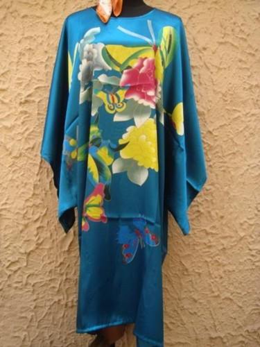 Silk Sleepwear Pyjama Night Dress Oriental Kaftan SW11