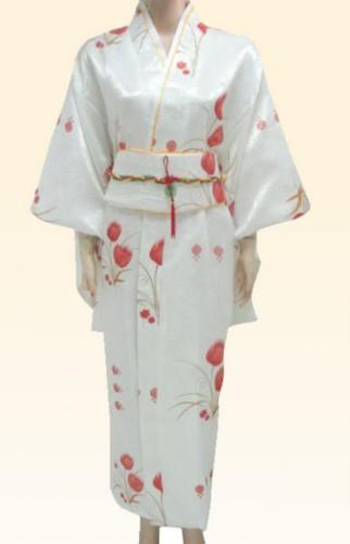 Vintage Yukata Japanese Kimono Costume Dress with Obi JK11