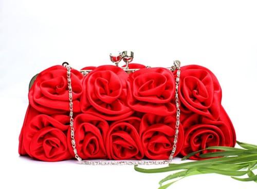 Silk Evening Wedding Clutch Bag Purse Handbag HB135