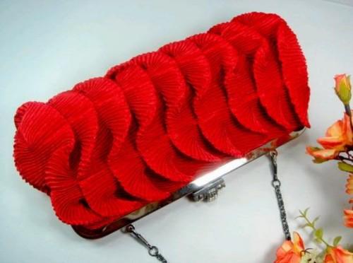 Silk Evening Wedding Clutch Bag Purse Handbag HB147