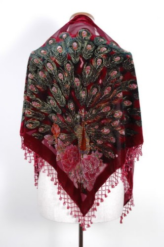 Gorgeous Silk Velvet Sequin Scarf Shawl Wrap SH13