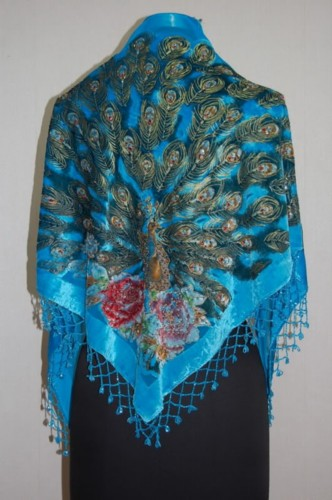 Gorgeous Silk Velvet Sequin Scarf Shawl Wrap SH12