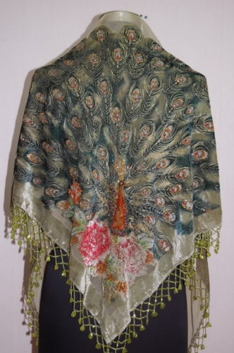 Gorgeous Silk Velvet Sequin Scarf Shawl Wrap SH11
