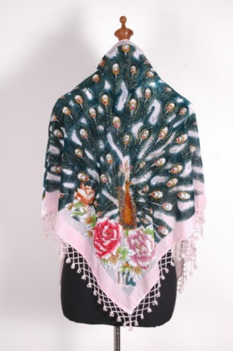 Gorgeous Silk Velvet Sequin Scarf Shawl Wrap SH10