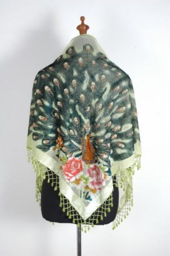 Gorgeous Silk Velvet Sequin Scarf Shawl Wrap SH09