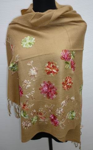 Embroidered Cashmere Pashmina Scarf Shawl Wrap SH41