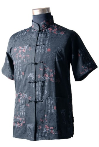 Mens Chinese Mandarin Kung fu Tai chi Shirt Top Costume TS05