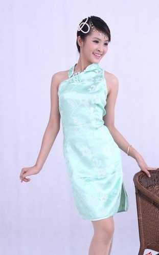 Oriental Chinese Costume Cheongsam Qipao Dress QS167