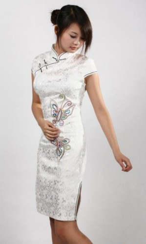 Chinese Cheongsam Prom Party Evening Short Dress QS183