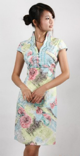 Chinese Cheongsam Prom Party Evening Short Dress QS173
