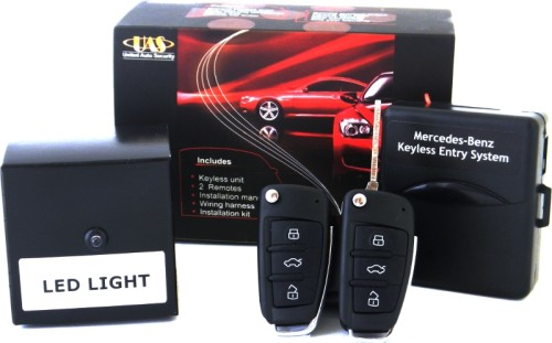 Mercedes-Benz W201 Keyless Entry System with 2 Flip Key Remotes