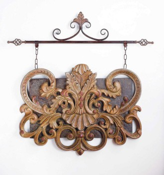 Scrolling acanthus leaf wall decor for Acanthus leaf decoration