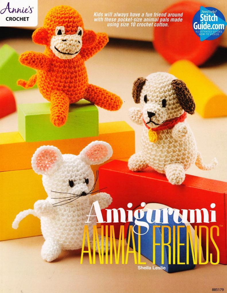 Free Crochet Pattern Leaflets : Amigurumi Animal Friends Crochet Pattern Leaflet