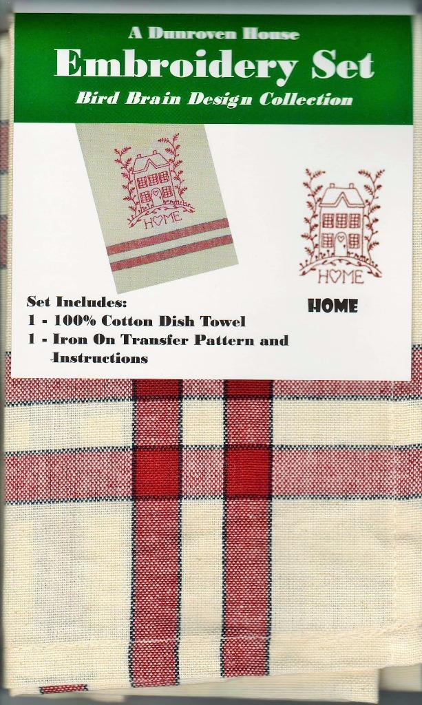 Home  Dish Towel  Embroidery Set   1 Towel + Transfer Pattern  Kit