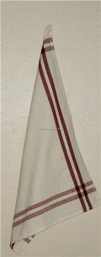 """Country Red  w/ Black Stripe   Dish Towel  Dunroven House   100% Cotton  20""""x28"""""""