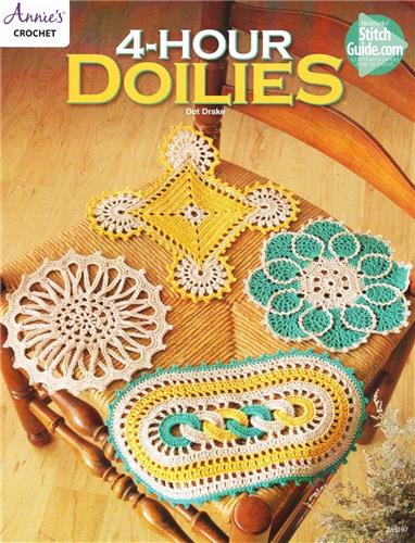 4 Hour Doilies Annie's Crochet  Doily Pattern Instruction Leaflet