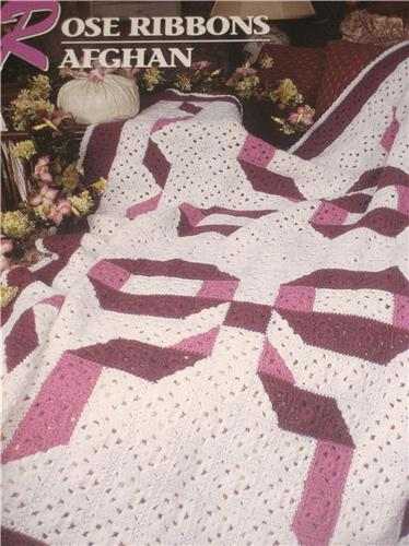 rose ribbons crochet afghan pattern annie s attic