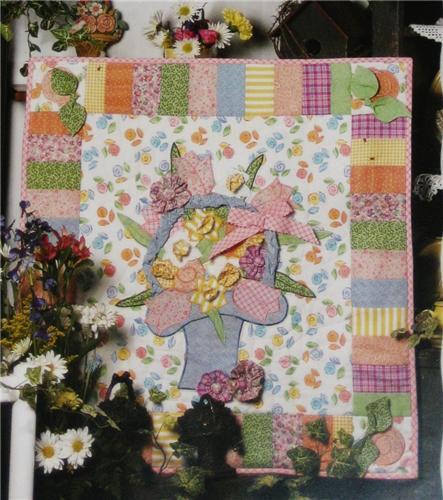 Quilt Patterns For Mother S Day : Mother s Day Basket Wall Quilt Pattern Leaflet - Heartland Treasures