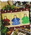 Angel Trio   Pillow Appliqued Quilt Pattern Leaflet w/ Flexible Templates
